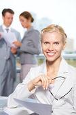 Female leader — Stock Photo
