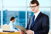 Smart businessman — Stock Photo