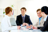 Business briefing — Stock Photo