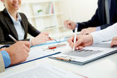 Signing agreement — Stock Photo