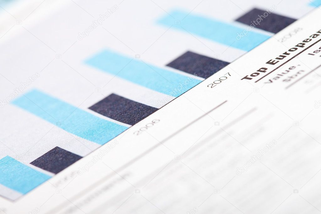 Close-up of schemes from business newspaper article — Stock Photo #11240764