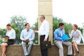 Reunião ao ar livre — Fotografia Stock
