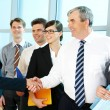 Handshaking partners — Stock Photo
