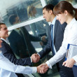 Parallel handshakes - Stock Photo