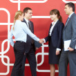 Females handshaking — Stock Photo #11310915