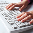 Typing secretary — Stock Photo