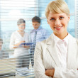 Female leader — Stock Photo