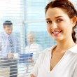Pretty employer — Stock Photo