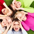 Stock Photo: Funny kids