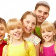 Row of children — Stock Photo
