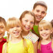 Row of children — Stock Photo #11312144