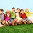 Children on grass   — Stock Photo