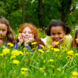 Girls in grass — Stock Photo #11312410