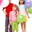 Kids with balloons — Stock Photo