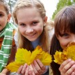 Autumnal fun — Stock Photo