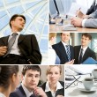 Foto Stock: Business moments