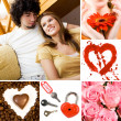 Love symbols - Stock Photo