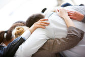 Partnership embrace — Stock Photo