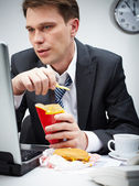 Fast-food-pause — Stockfoto