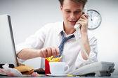 Glad måltid — Stockfoto