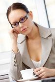 Pensive female — Stock Photo