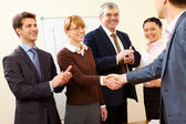 Successful handshake — Stock Photo
