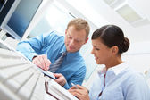 Employee training — Stock Photo