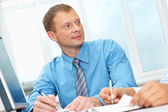 Businessman in his office — Stock Photo