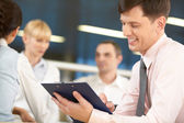 Erfolgreiche chef-manager — Stockfoto