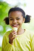 Ice-cream happiness — Stock Photo