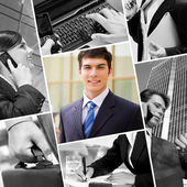 Tecnologia e em negócios — Foto Stock