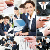Set of business — Stock Photo