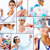 Collage of medicine — Stock Photo
