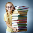 Literature girl — Stock Photo
