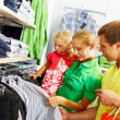 In clothing department — Stock Photo #11335505