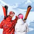 At winter resort — Stockfoto