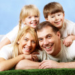 Joyful family - Stock Photo