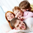 Relaxing family — Stockfoto