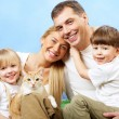 Family with pet — Stock Photo #11336288