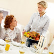 Holiday dinner — Stock Photo