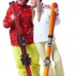 Happy skiers — Stock Photo #11336485