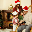 Reading Christmas tales — Stock Photo