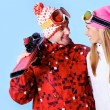 Happy skiers — Stock Photo #11336547