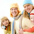 Family in winter — Stock Photo