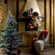 Christmas room — Stock Photo