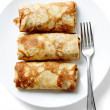 Pancake with meat - Foto Stock