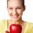 Girl with apple — Stock Photo #11337180
