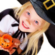 Halloween girl — Stock Photo