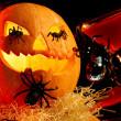 Halloween attributes — Stock Photo