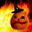 Foto Stock: Flame with gourd